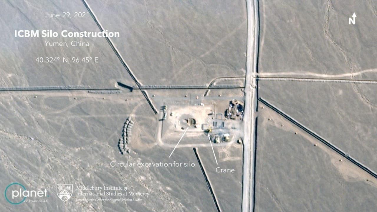 ساخت سیلو جدید موشکی در چین